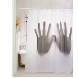 Rideau de douche scary shower