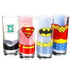Verres Justice League Lot de 4