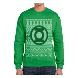 DC Comics Sweater Christmas Jumper Green Lantern Logo