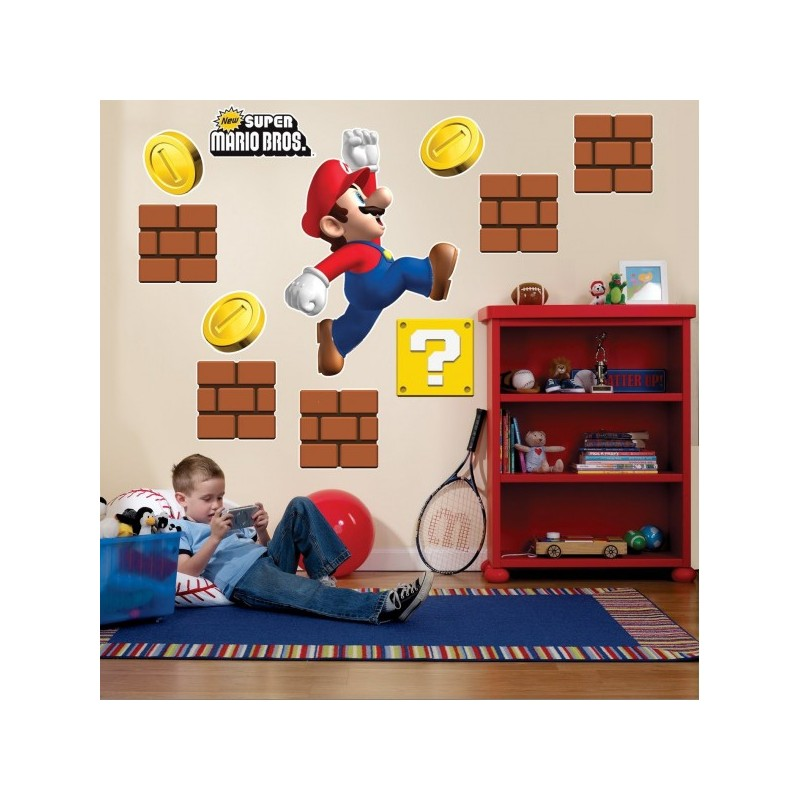 D coration murale g ante super mario bros vendu geek for Decoration murale home