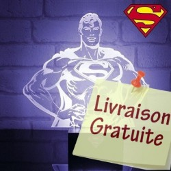 Lampe buste transparent Superman