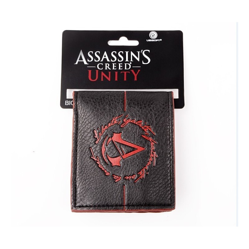 Portefeuille assassins creed Unity logo Noir