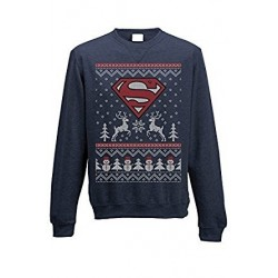 DC Comics Sweater Christmas Jumper Superman Logo