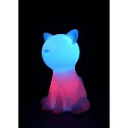 Veilleuse chat multicolore