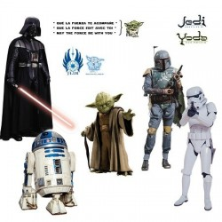 Stickers Héros de Star Wars grand format