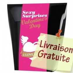 Coffret surprise sexy Saint-Valentin