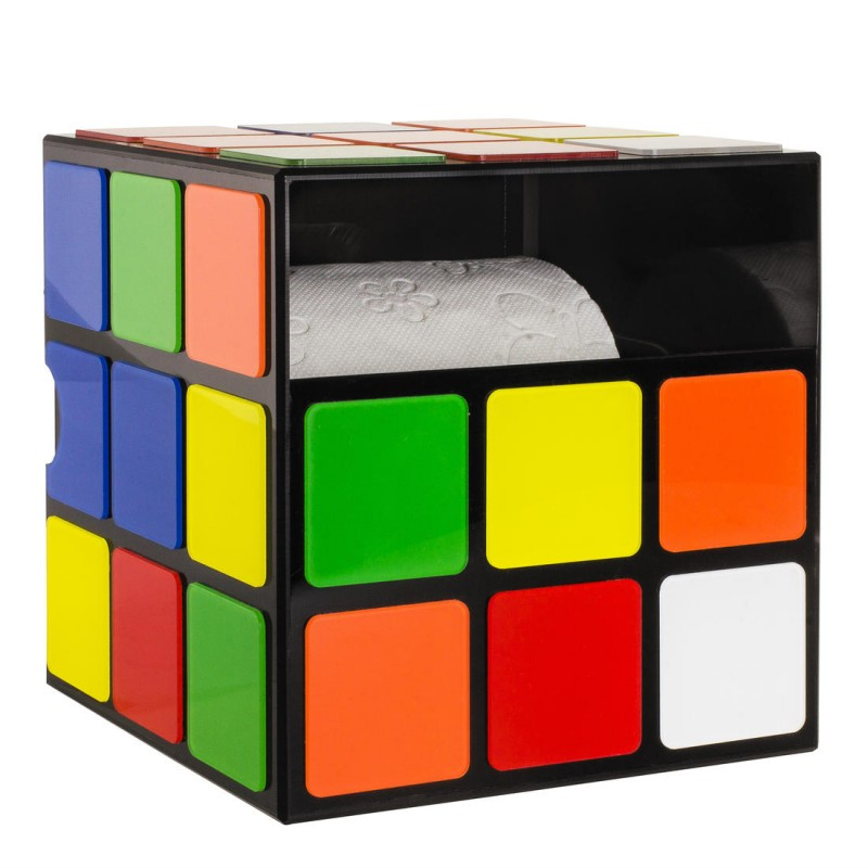 rubik 39 s cube distributeur de papier de toilette vendu geek. Black Bedroom Furniture Sets. Home Design Ideas