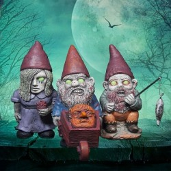 Lot de 3 Nains de Jardin Zombies