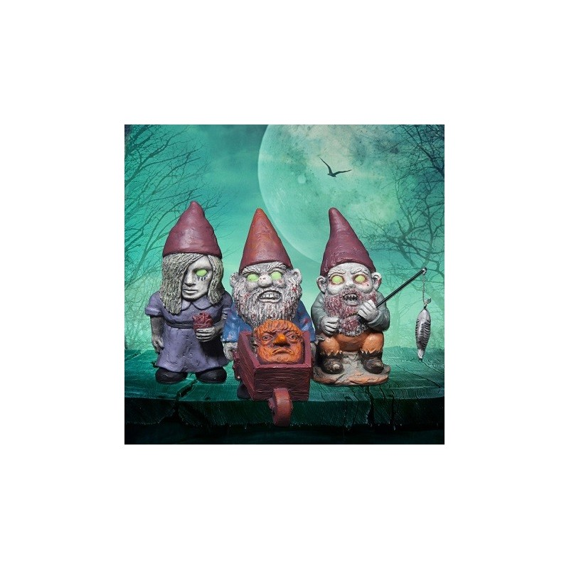 Lot de 3 Nain de Jardin Zombies