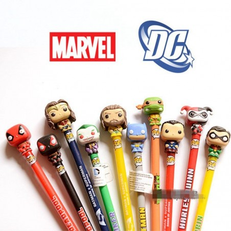 Stylo Funko Pop Marvel et DC comics