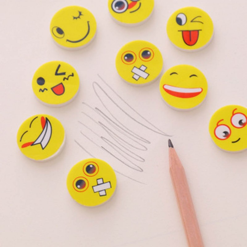 Lot 4 Gommes emoji Smiley Face