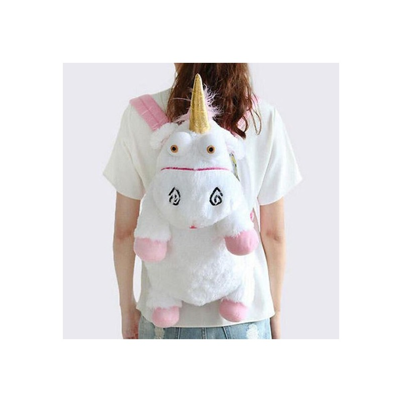 Large Unicorn Backpack Cartoon Shoulder Bag Cute Unicorn Plush Toy Give The Child A Gift