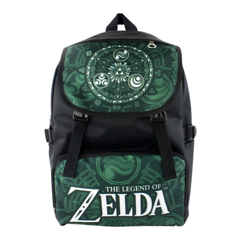The Legend of Zelda thick waterproof nylon soft Zelda bag backpack schoolbag boy girl carton women m