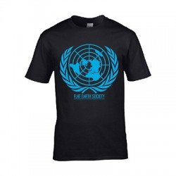 T-shirt Terre plate Flat Earth Society