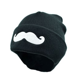Bonnet moustache geek
