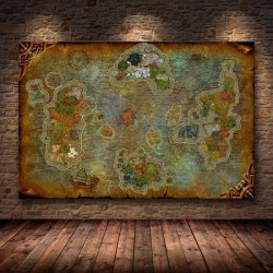 Poster Carte World Of Warcraft Peinture sur Toile