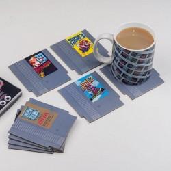 Lot 8 Dessous De Verres Cartouche Nintendo