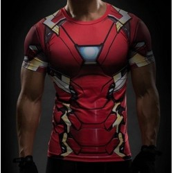 T-Shirt Civil War Iron Man Subli All