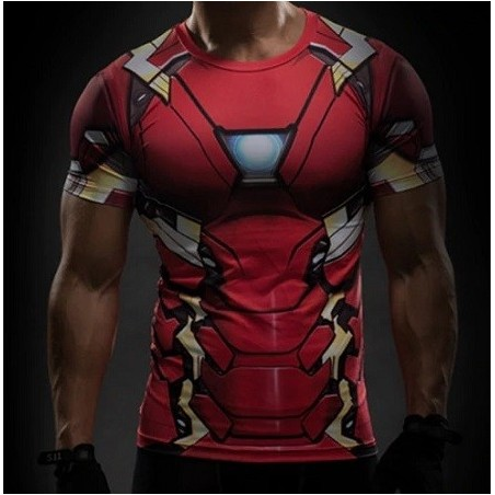 T-Shirt Civil War Iron Man Subli All