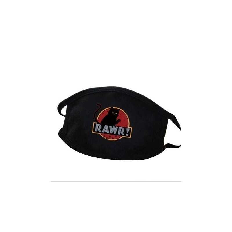 Masque Tissu Lavable Chat Rawr