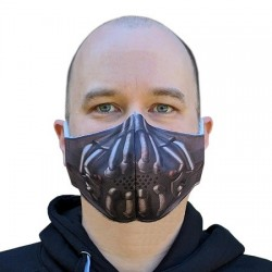 Masque Tissu Lavable Super vilain Bane