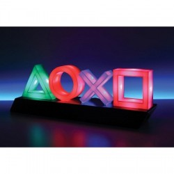 Lampe Playstation carrée croix rond triangle
