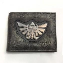 Portefeuille Zelda silver metal logo bird