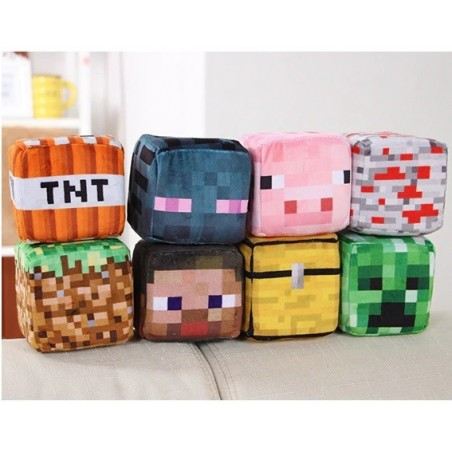 Coussin Cube Minecraft