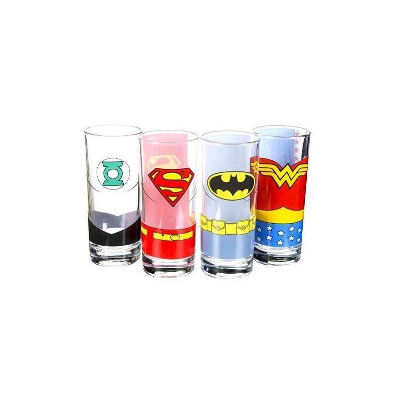 Verres Justice League Lot de 4