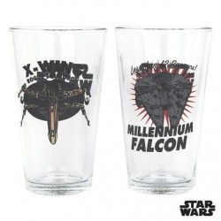 Set 2 Verres Star Wars Vaisseaux