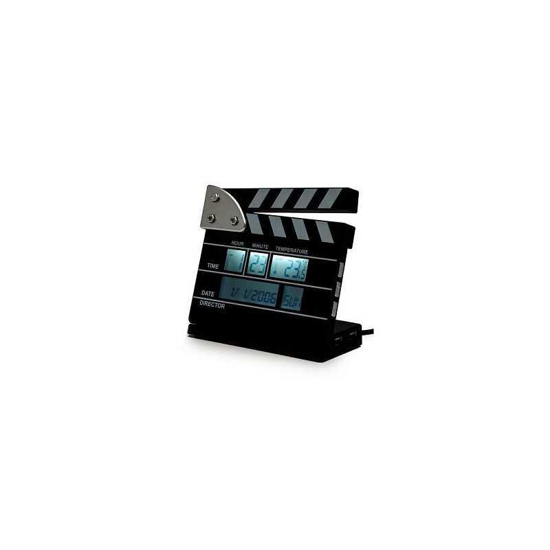 Horloge clap cinema HUB USB