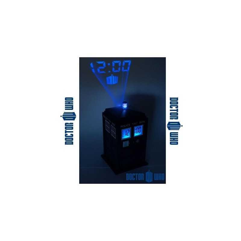 Reveil Tardis Dr Who projection