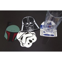 Pack 4 sous-verres Star Wars