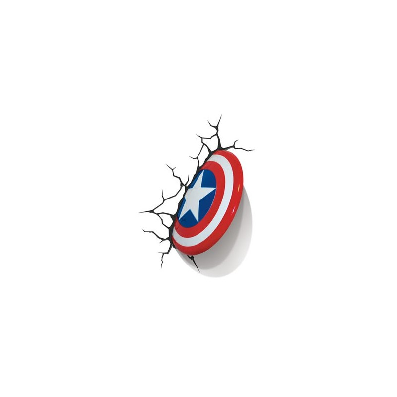 Marvel Comics lampe 3D LED Captain America Shield