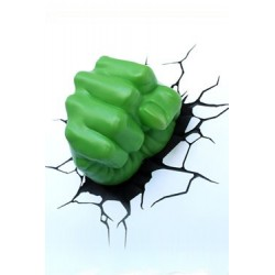 Marvel Comics lampe 3D LED Hulk Fist