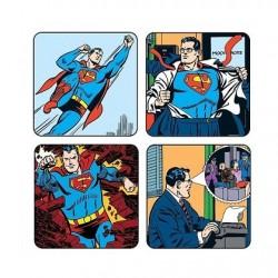 Pack 4 sous-verres superman