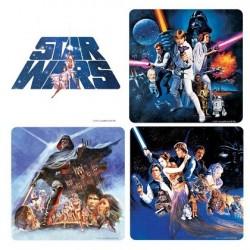 Pack 4 sous-verres Star Wars en liège
