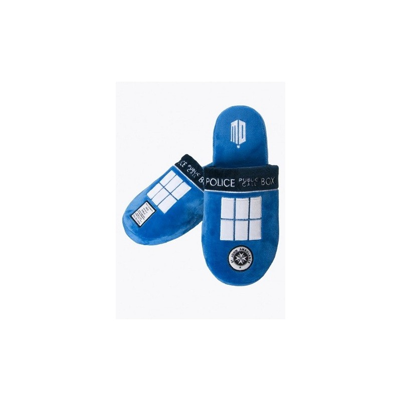 Doctor Who Tardis Adult Mule Slippers