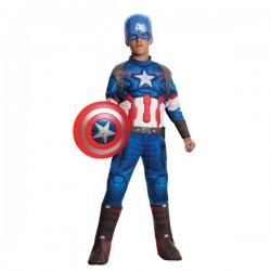 Costume Captain América Avengers deluxe enfant