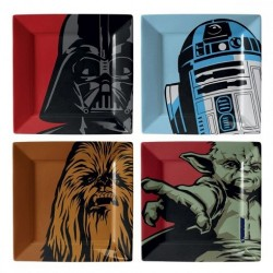 4 Assiettes Star Wars en Mélamine