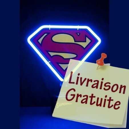 Lampe neon superman logo