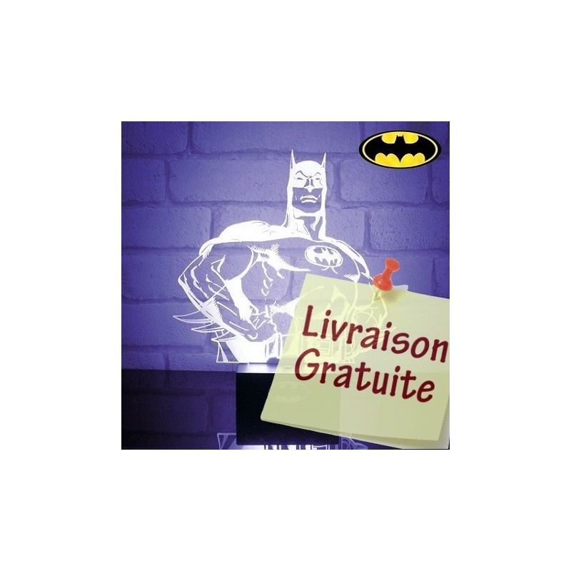 Lampe buste transparent Batman