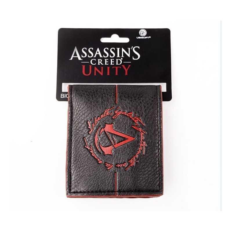 Portefeuille assassins creed Unity logo Noir