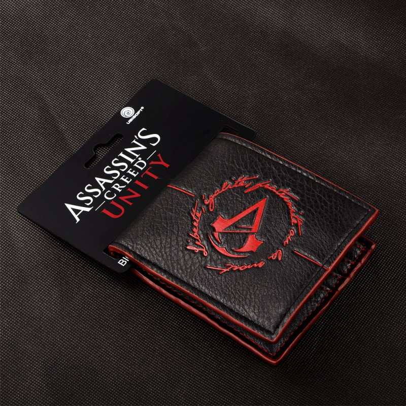 Ubisoft Assassins Creed Unity Logo Noir Portefeuille