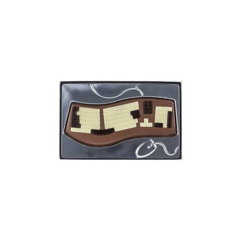Clavier de PC en chocolat