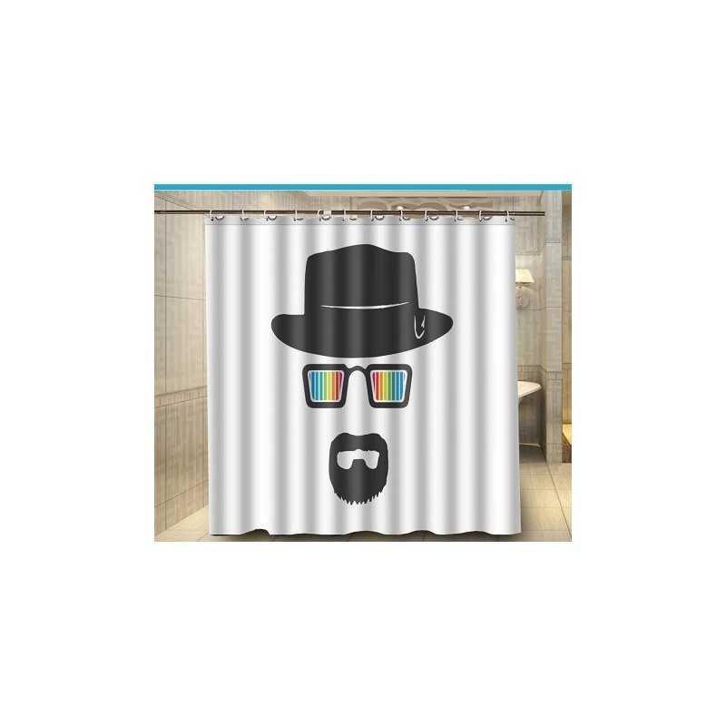 rideau de douche heisenberg arc en ciel vendugeek. Black Bedroom Furniture Sets. Home Design Ideas