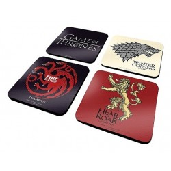 4 dessous de verre game of thrones