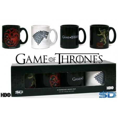 Set 4 mugs à expresso Game of thrones