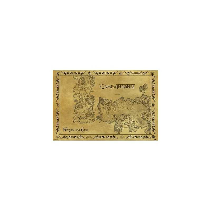 Carte antique game of thrones