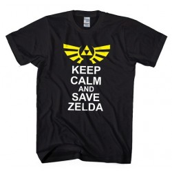 T-Shirt Keep calm and save Zelda